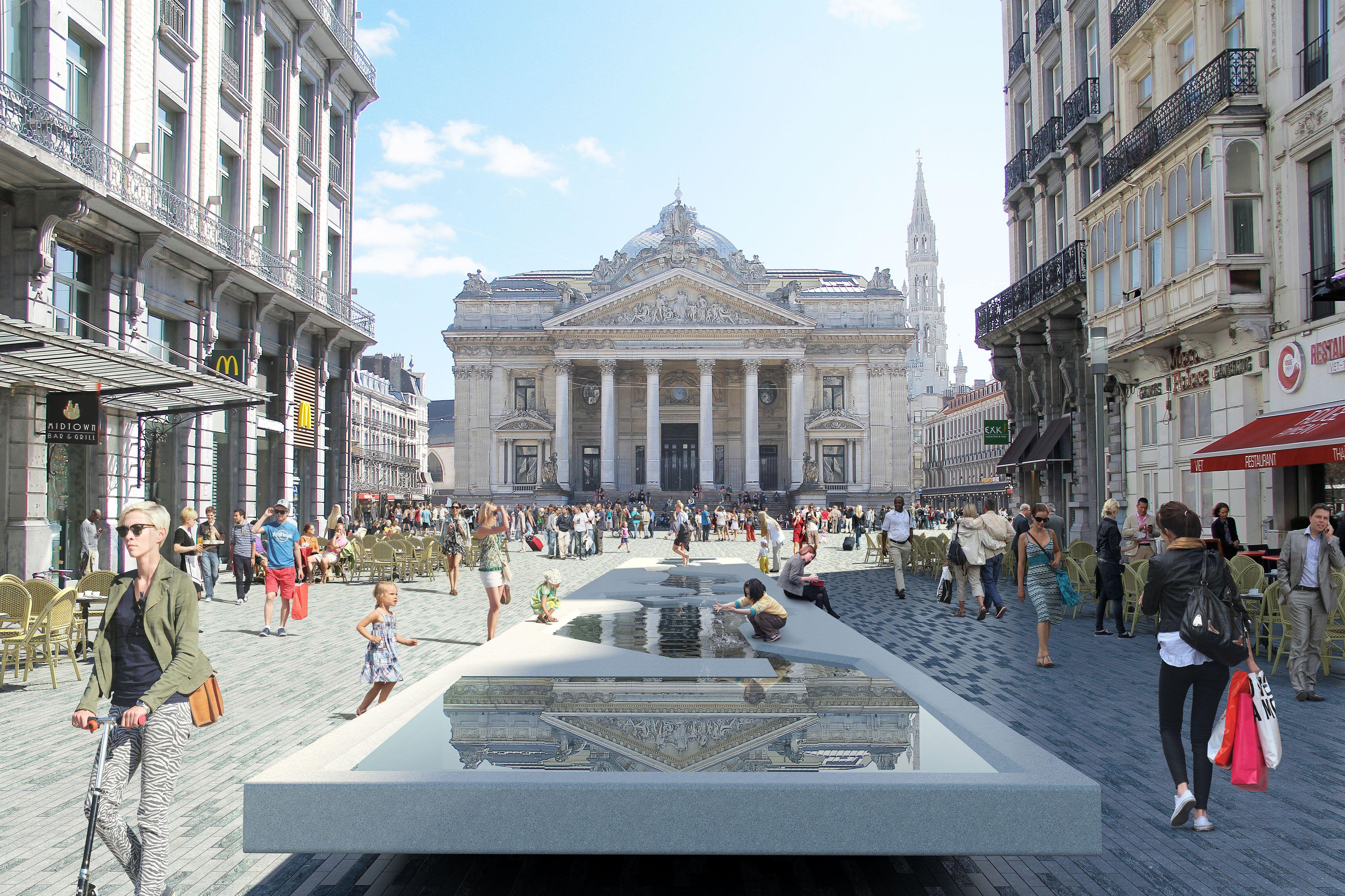 Voetgangerszone Brussel