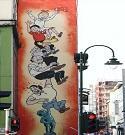Stripmuren wandelingen Brussel